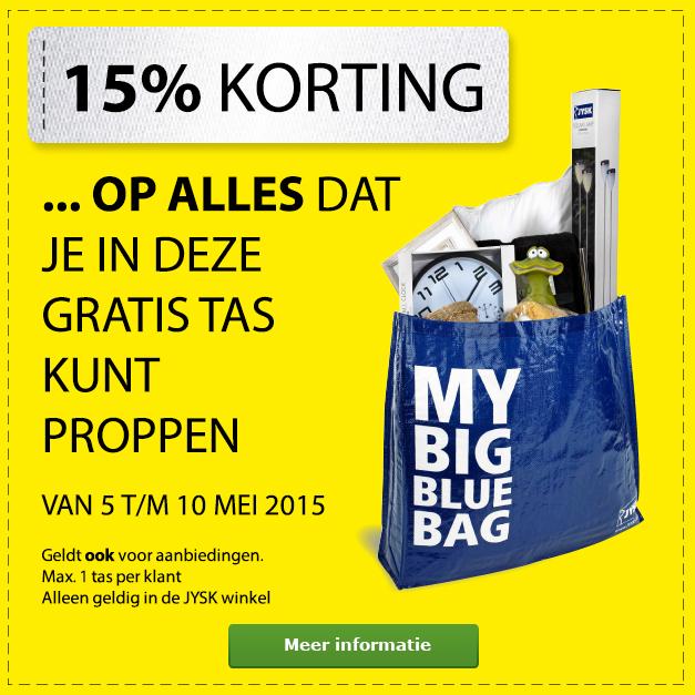15% korting op alles wat in deze tas past @ Jysk Winkels