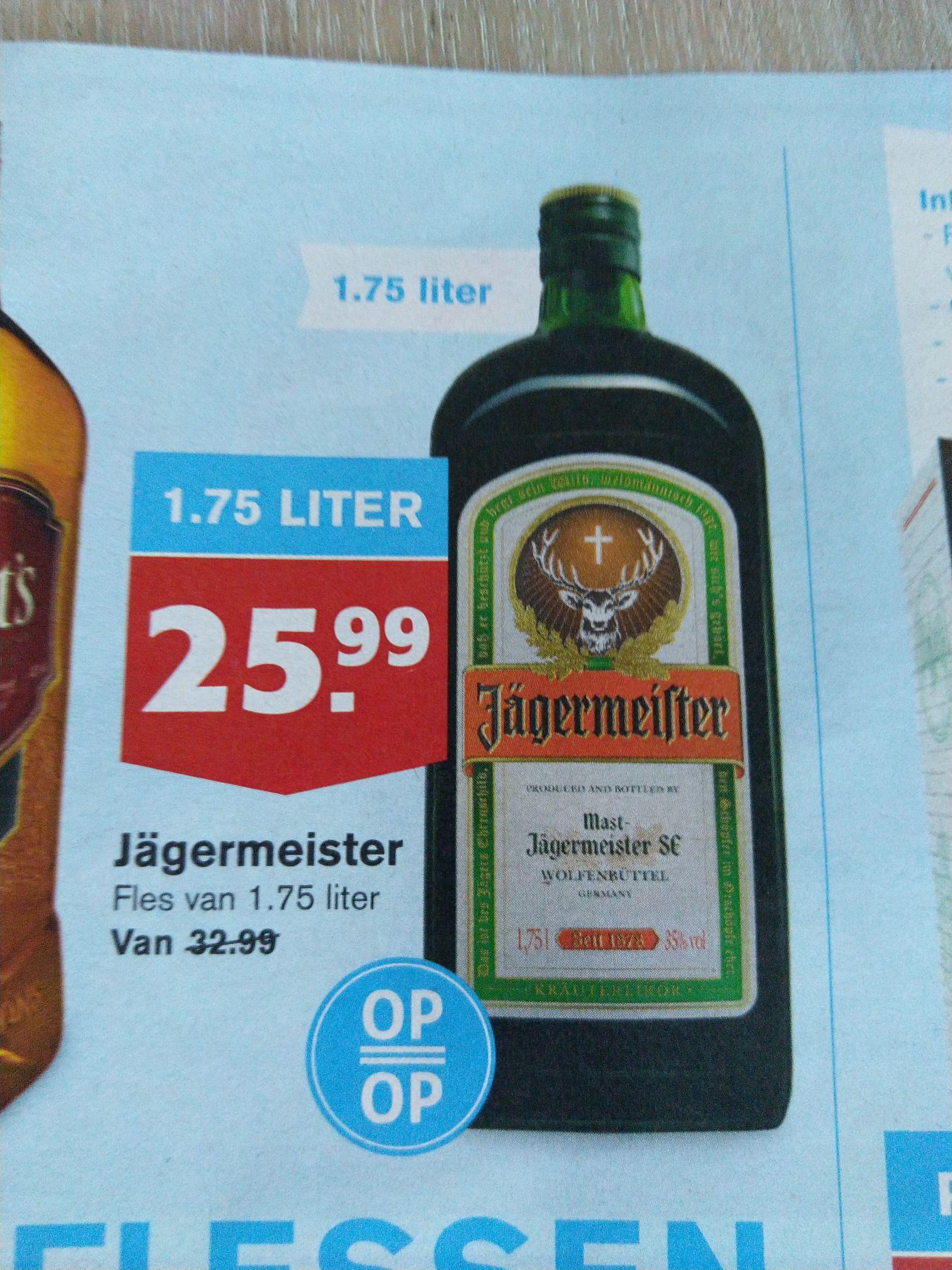 1,75 literfles Jägermeister