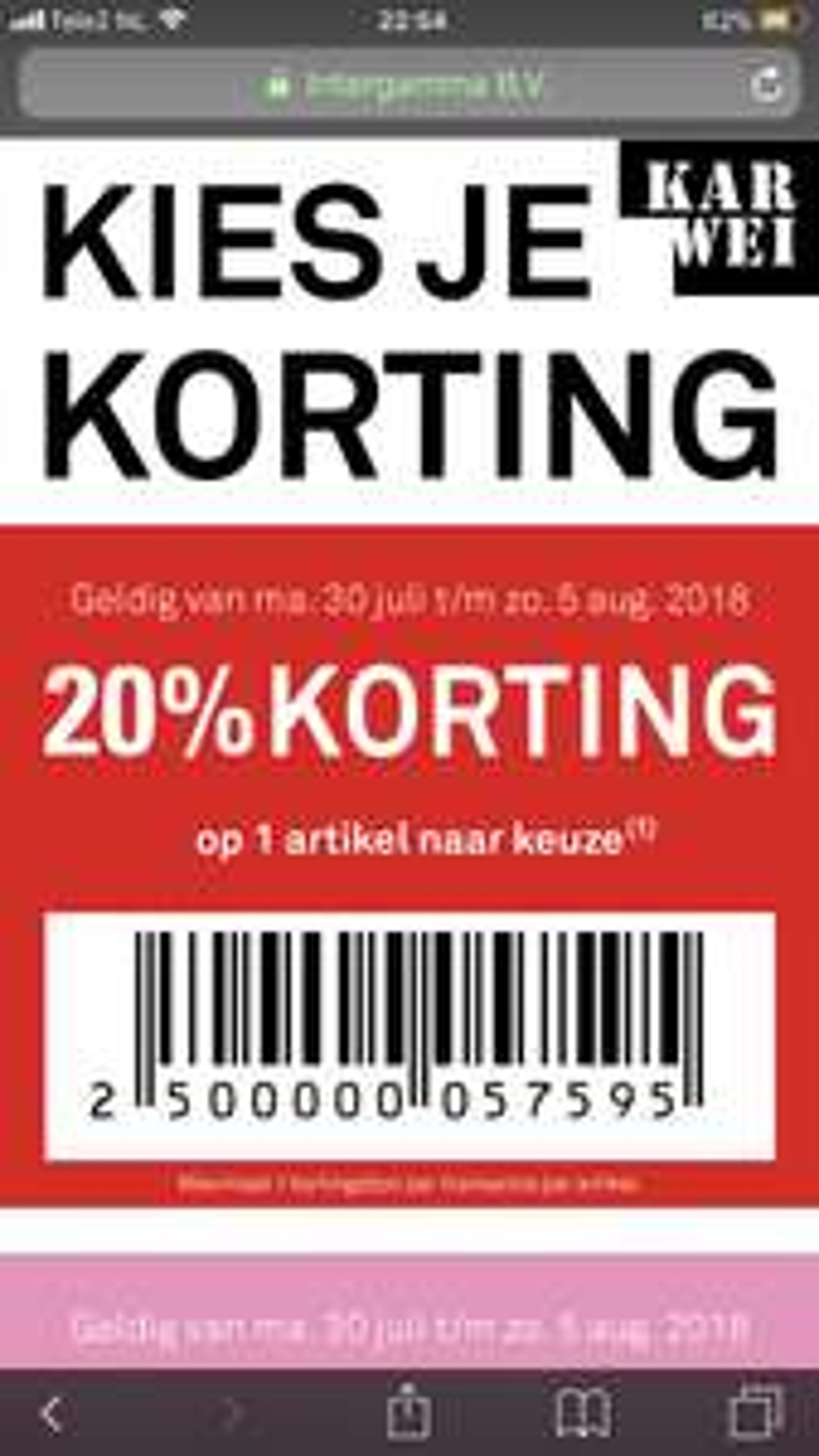 20% keuze korting @ karwei