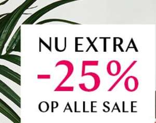Actie: 25% extra korting op sale @ Steps