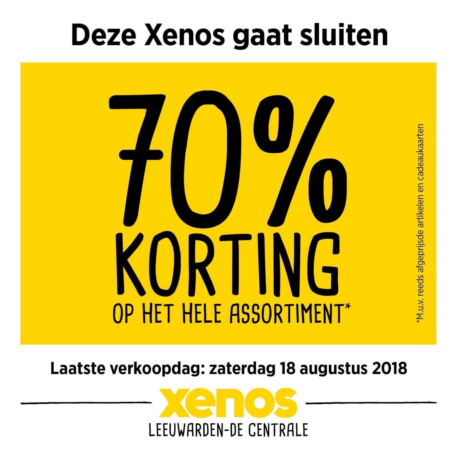 70% korting op alles @ Xenos Leeuwarden Centrale