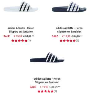 adidas Adilette heren 'slides' @ Foot Locker