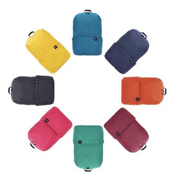 Original Xiaomi 10L Backpack Bag 8 Colors Level 4 Water Repellent 165g Weight YKK Zip Outdoor Chest Pack voor €6,53 @ Banggood