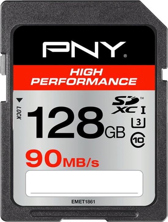 High speed 128GB PNY SDXC geheugenkaart @Bol.com