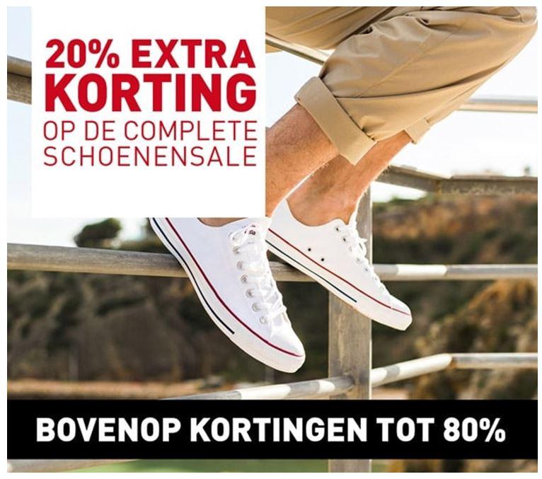 Actie: 20% extra korting op sale schoenen (nu al tot -80%) @ Perry Sport