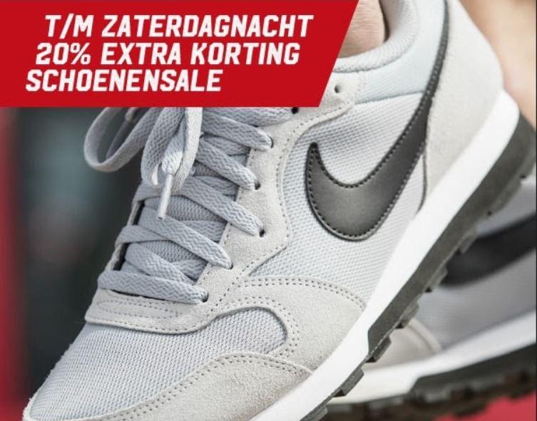 Actie: 20% extra korting op schoenensale @ Aktiesport
