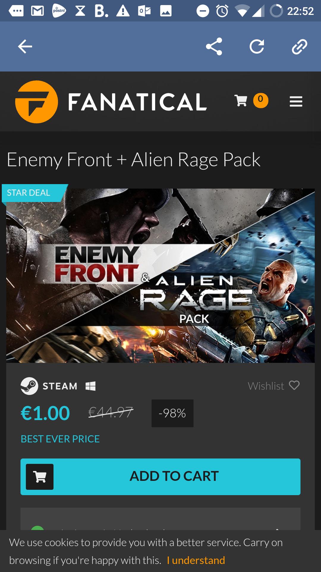 Enemy Front & Alien Rage Pack [Fanatical] Steam keys, € 1,-