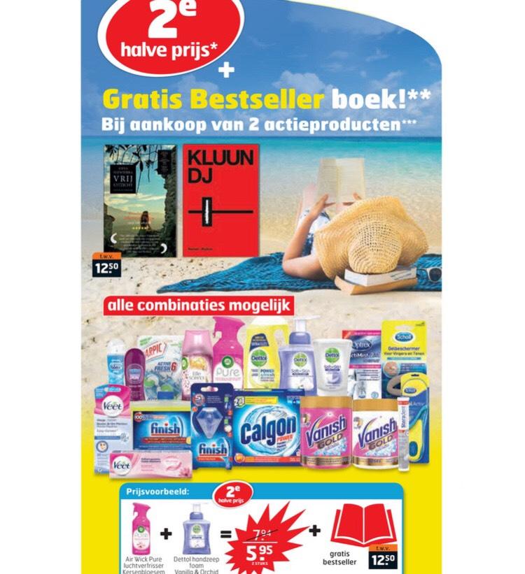 Tweede artikel halve prijs + gratis boek trekpleister!