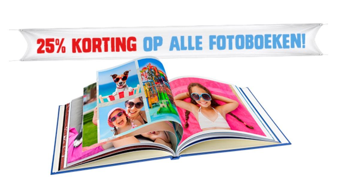 25% korting op alle fotoboeken + Gratis draaien aan het Rad @Kruidvat