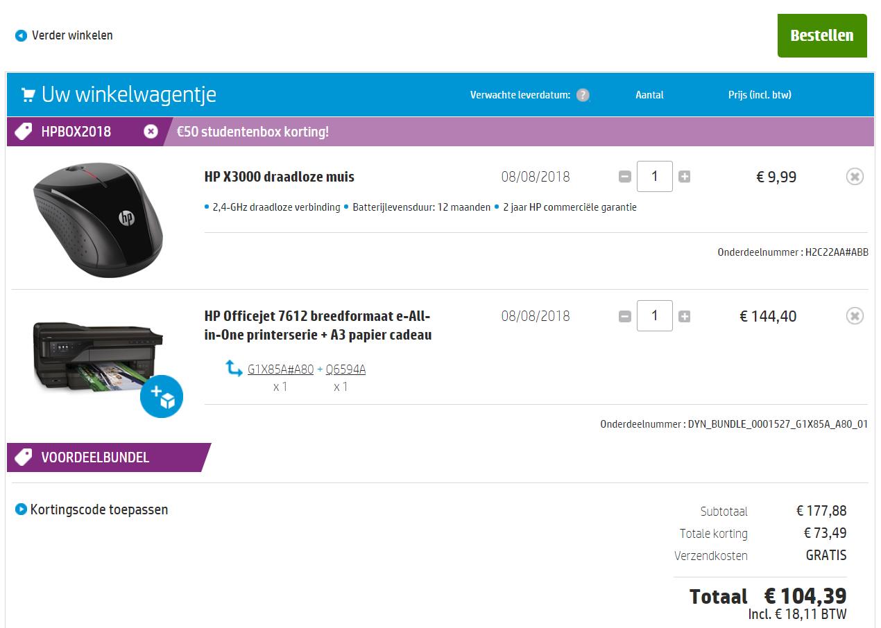 HP Store: Extra € 50,- korting voor studenten bovenop de studentenkortingen