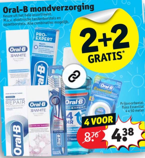 Oral-B mondverzorging 2+2 gratis!
