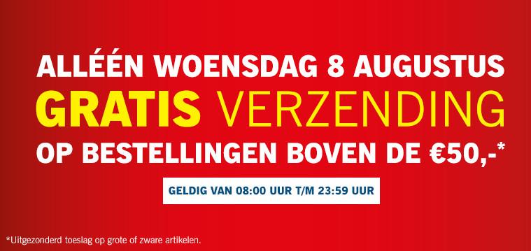 Morgen gratis verzending op bestellingen boven €50 @ Lidl