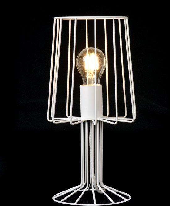 Lucide LOUIS - Tafellamp - Ø 17 cm - Wit -69% @ Bol.com