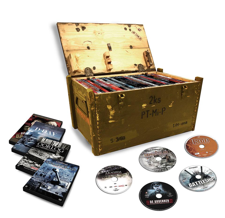 'Munitiekist' met Tweede Wereldoorlog documentaires (40 dvd) voor €49,99 @ Blokker