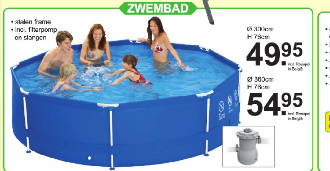 Cranenbroek zwembad 360x76cm inclusief pomp en slangen