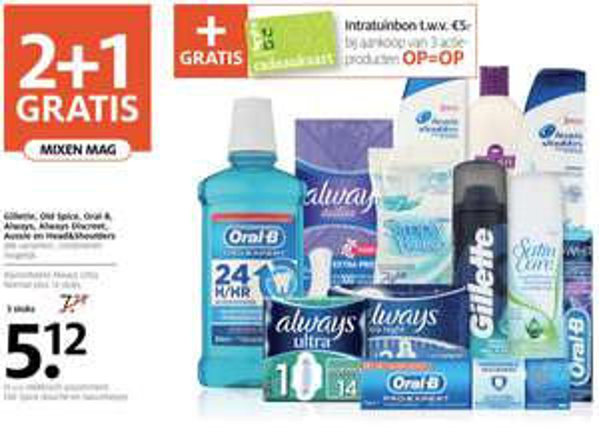 Etos: 2+1 gratis op diverse producten + gratis cadeaukaart Intratuin t.w.v. € 5,-