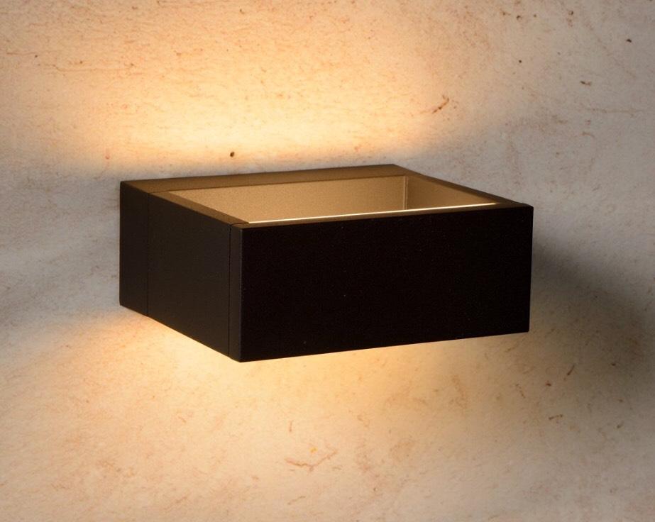 Prijsfout? Lucide GOA - Wandlamp Buiten - LED - 1x6W 3000K - IP54 - Antraciet @Bol.com