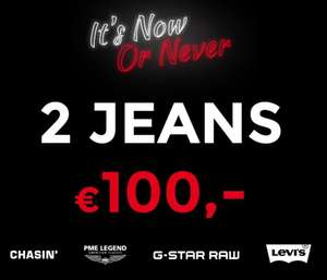 Actie: 2 jeans voor €100 (o.a. G-Star / Replay / Diesel ) @ Score