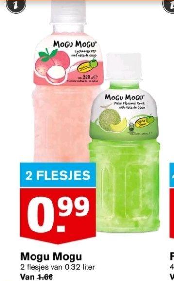 @Hoogvliet, 2 flesjes mogu mogu €0.99