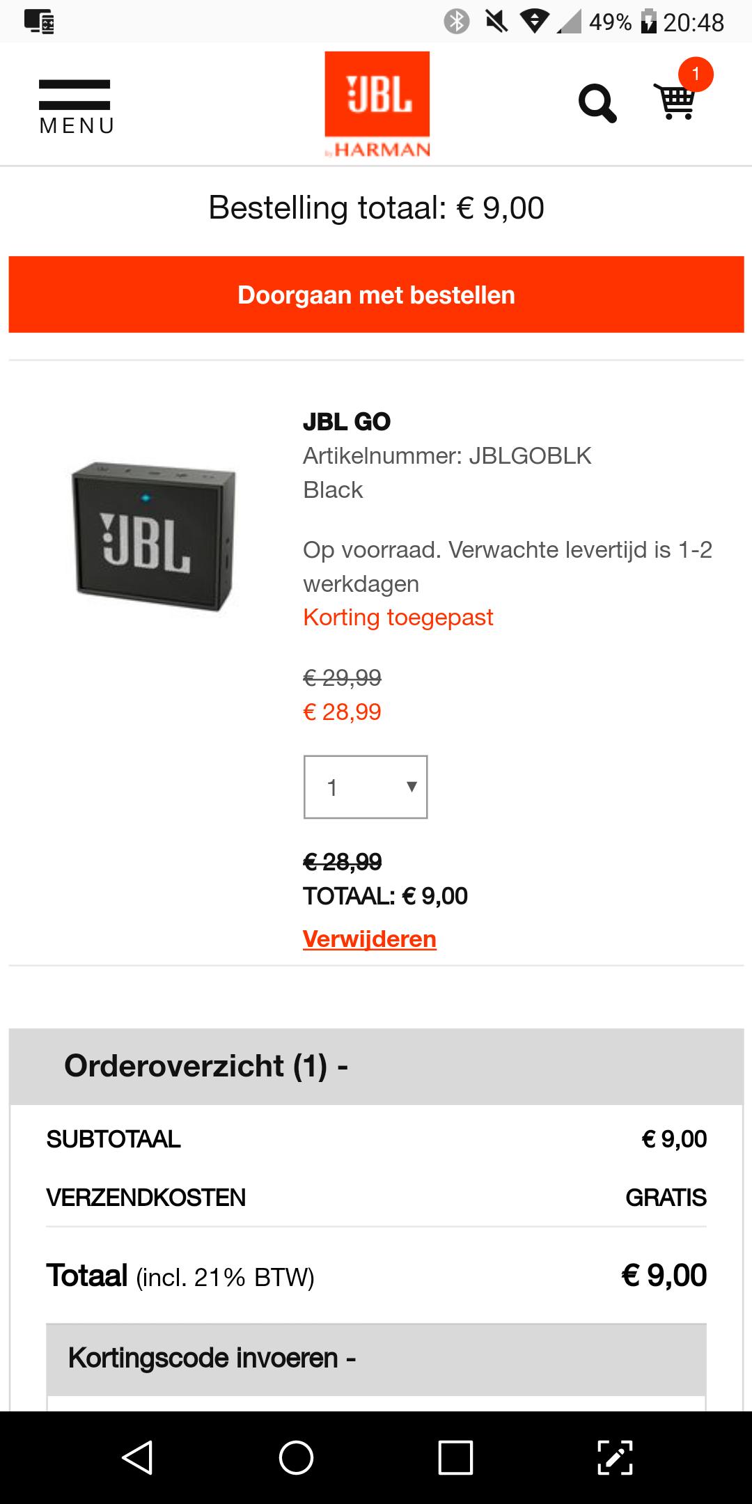 JBL Go Bluetooth speaker @jbl.nl