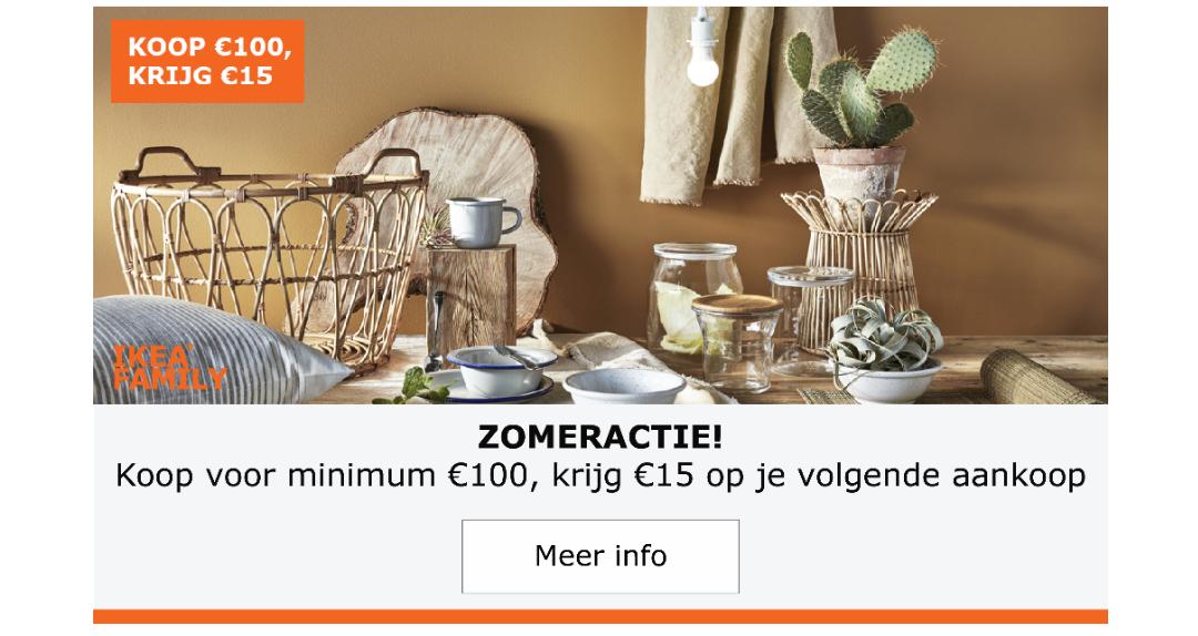 [Grensdeal] Cadeaubon van €15 bij uitgeven van €100 Ikea België