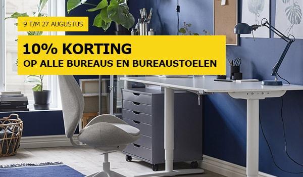 IKEA 10% / 15% korting op bureau's, bureaustoelen en bureaulampen