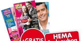 10,- cadeaukaart van de HEMA + half jaar troskompas of TV Krant voor €10,-