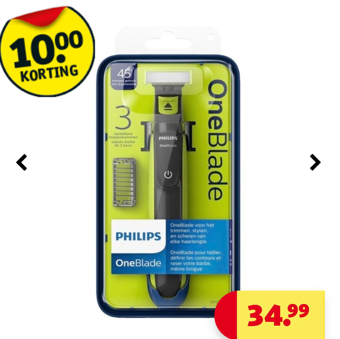 Philips oneblade met 10€ korting