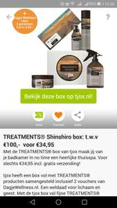 Treatments® Shinshiro box inclusief 2x Dagje Wellness voucher