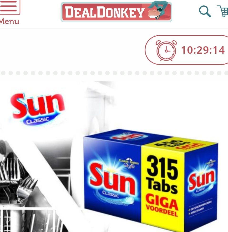 Alleen vandaag: 315 stuks Sun vaatwastabletten voor 29,95