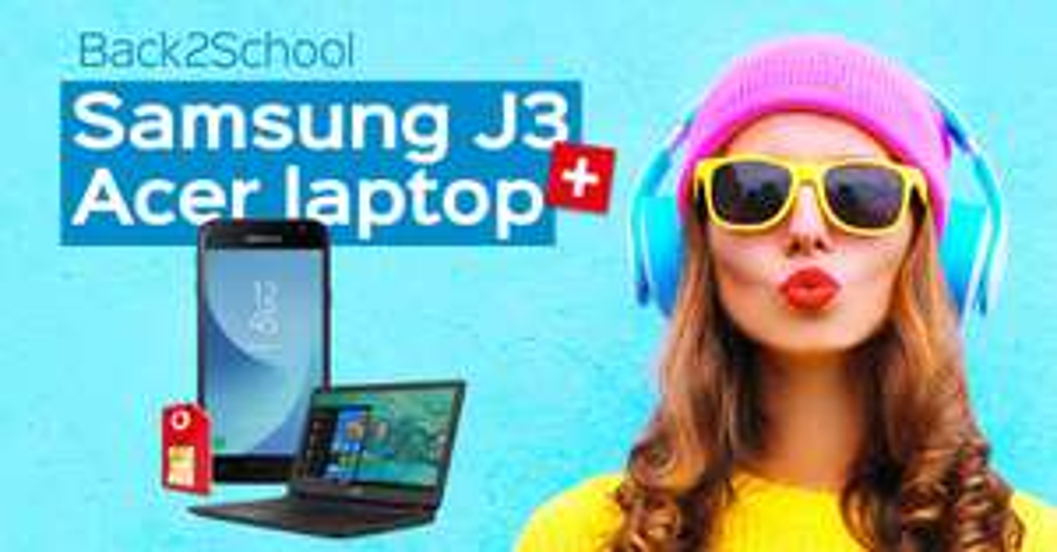 Samsung J3 en Acer Laptop bij Optie1 icm Vodafone abo