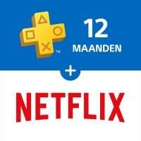 12 Maanden Playstation Plus + Netflix