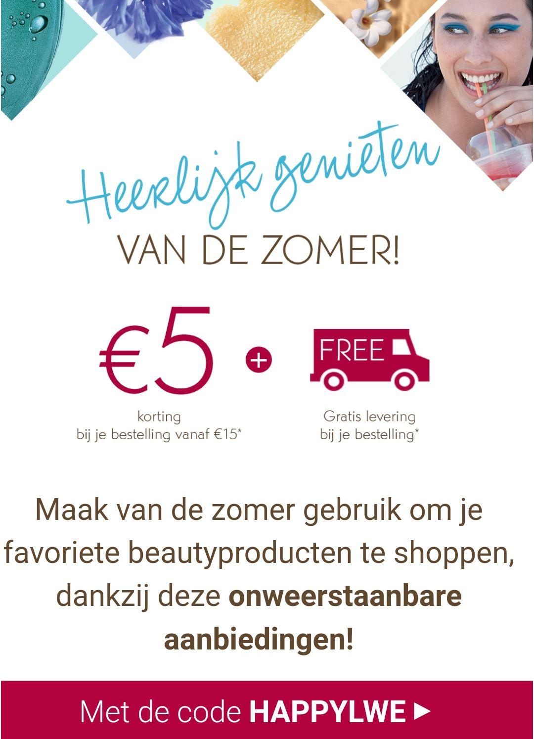 €5 korting + gratis verzending @ Yves Rocher