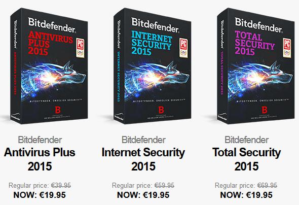 Bitdefender 2015 voor €19,95  (alle paketten) @ Bitdefender