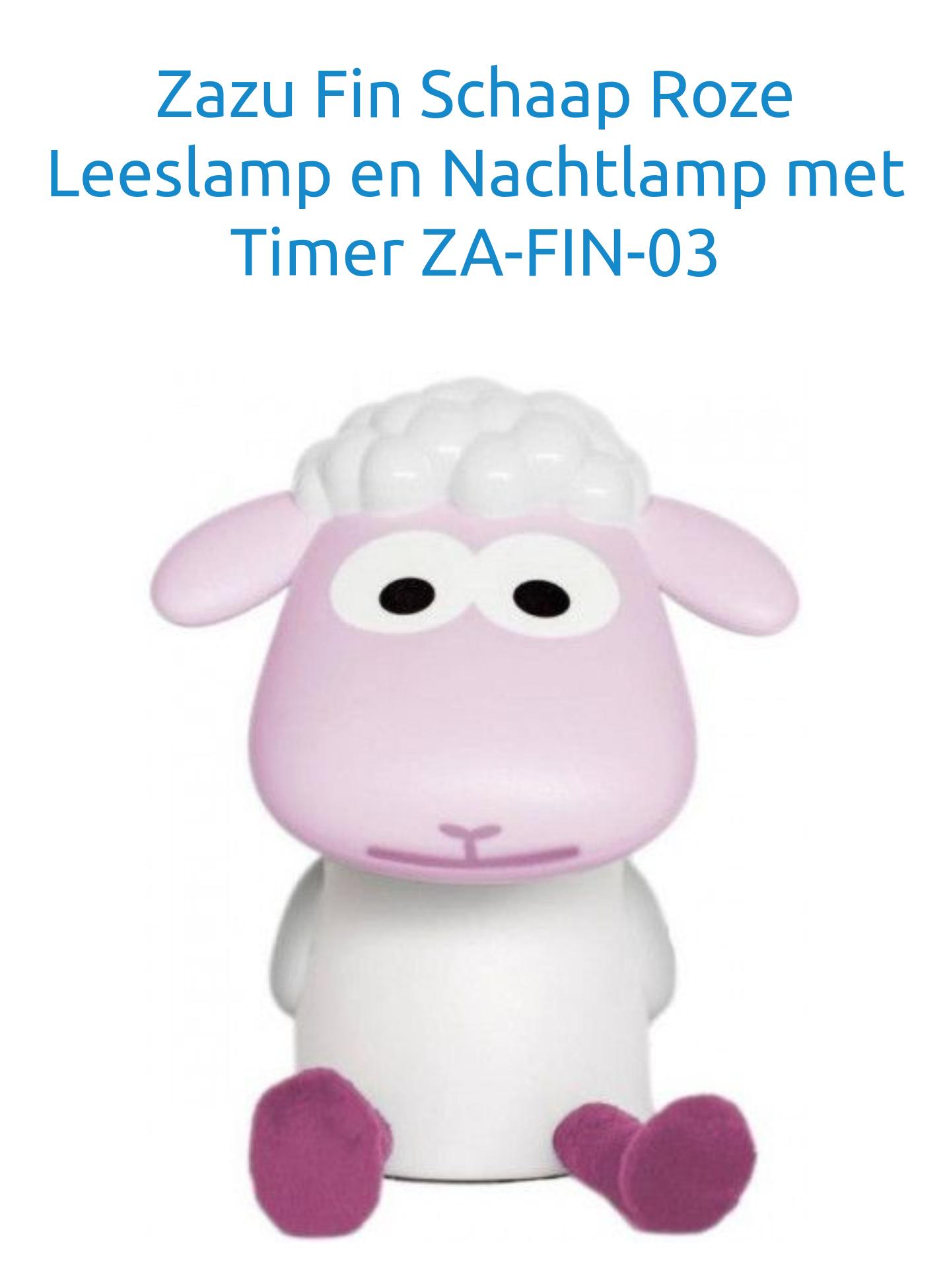 Zazu fin schaap roze of blauw leeslamp/nachtlampje van 29,99 voor 14,99