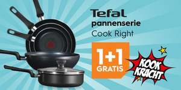 1+1 gratis Tefal pannen