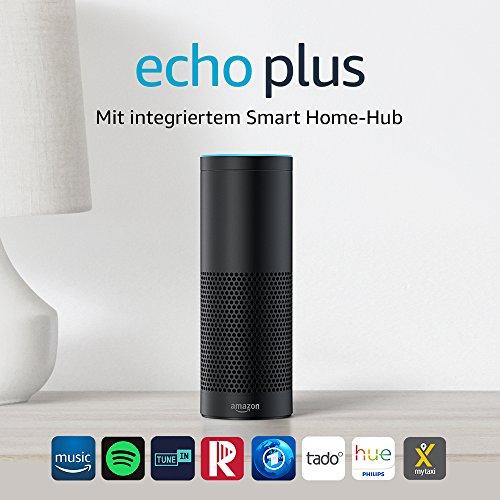 Echo Plus - Met ingebouwde smart home hub (Zwart)-  inclusief Philips Hue lamp @ Amazon.de
