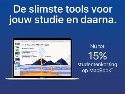 15% korting op MacBook voor Studenten