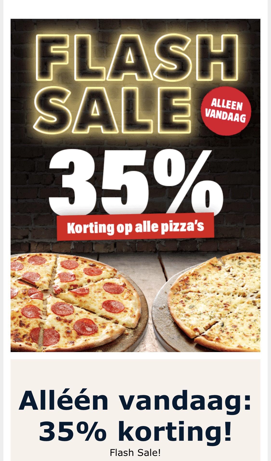 35% korting op alle domino's pizza 's !