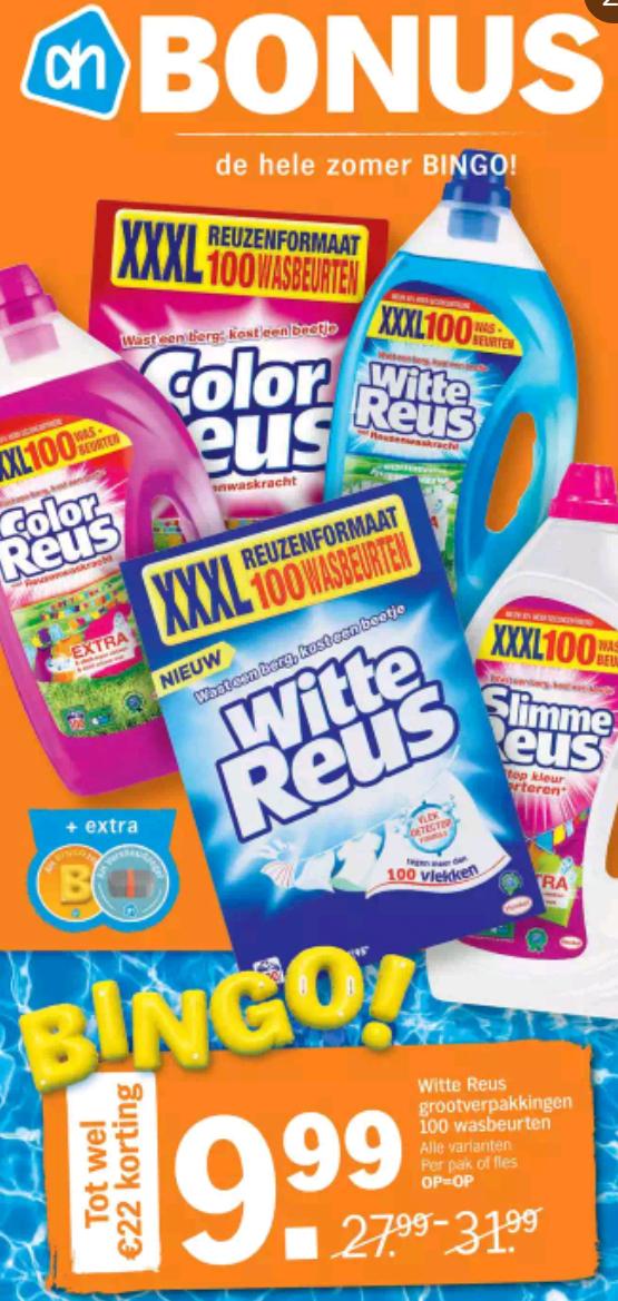 Witte of color reus xxxl - 100 wasbeurten