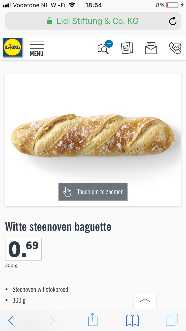Lidl steenoven baguette €0,49