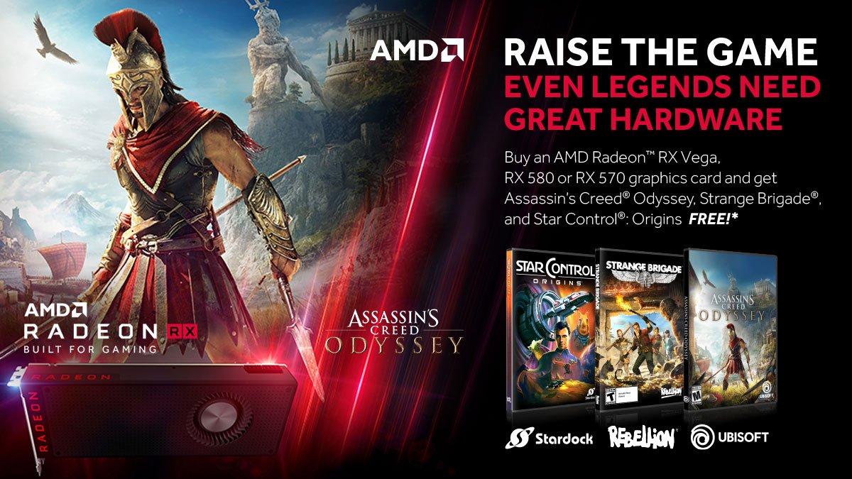 AC: Odyssey, Strange Brigade en Star Control: Origins  gratis bij aanschaf RX Vega, RX 580 of RX 570