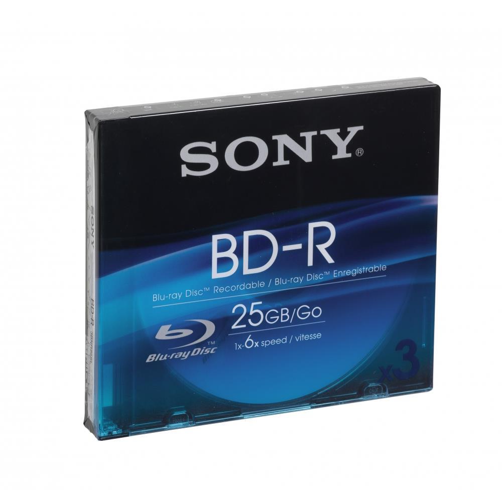 Sony 3BNR25SL 3 Lege Blu-ray schijven voor € 5 @ BCC