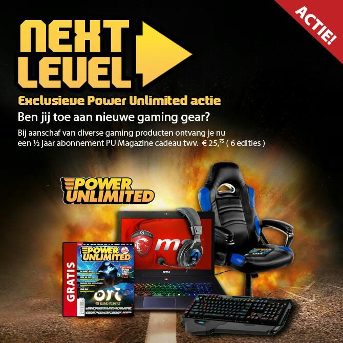 Gratis half jaar Power Unlimited t.w.v €25,75 bij aankoop van gaming gear @ Alternate