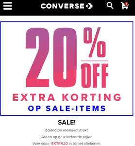 Converse / Miley Cyrus collectie 50% + extra 20% korting