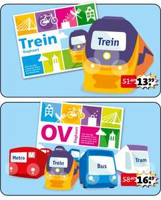 Trein Dagkaart voor €13,99 of OV Dagkaart voor €16,49 @ Kruidvat
