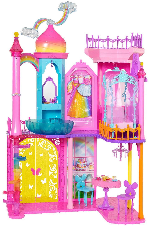 Barbie Regenboogkasteel van 129,99 nu 49.95 Wehkamp