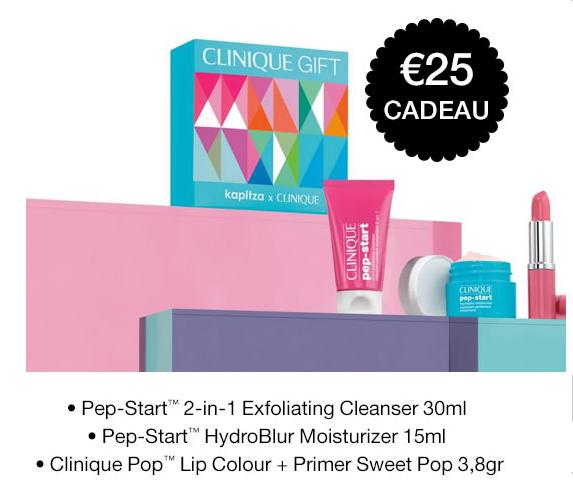 Clinique Gratis giftset t.w.v. €25,- bij aankoop bestseller (vanaf €19,-)