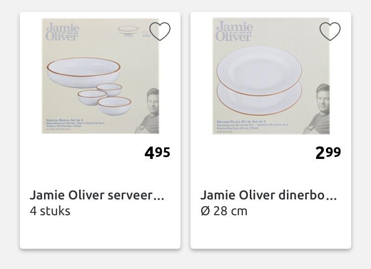 Jamie Oliver schalen en borden bij de action! Vanaf €2,99