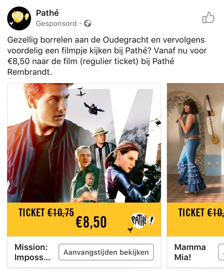 Pathé Rembrandt Utrecht - €8.50 per regulier kaartje i.p.v. €10.75